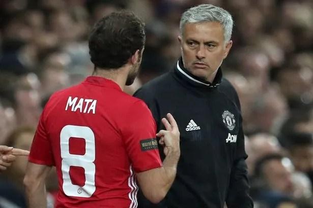 Image result for Man Utd mata Mourinho