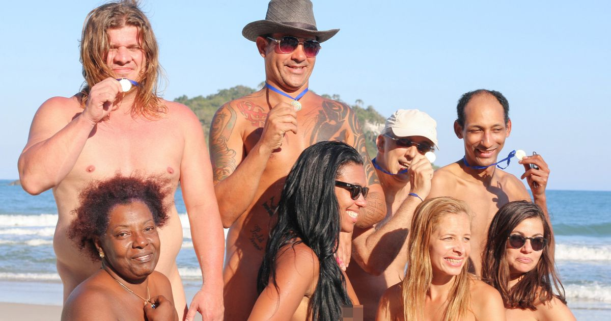 Rio hosts NAKED Olympics on beach to honour ancient Greeks