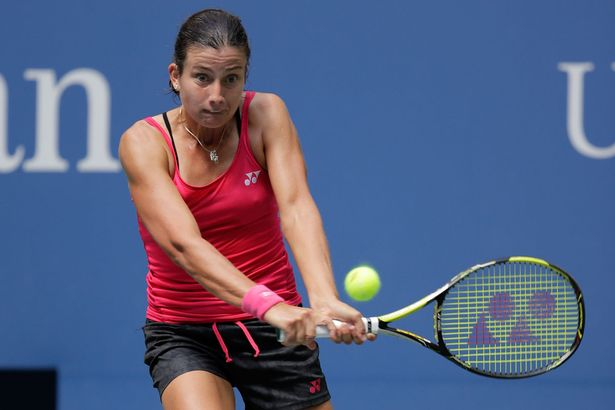 Anastasija Sevastova in action at the US Open