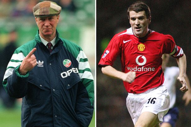 Jack Charlton and Roy Keane