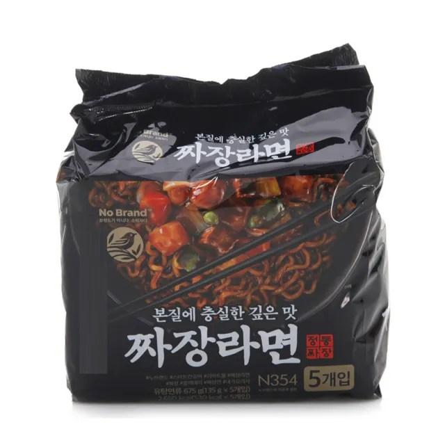 【韓國NOBRAND】經典炸醬拉麵675公克(135公克X5包)
