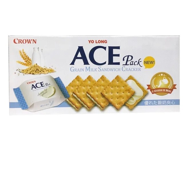 【CROWN】ACE優龍五穀牛奶夾心餅(128g)