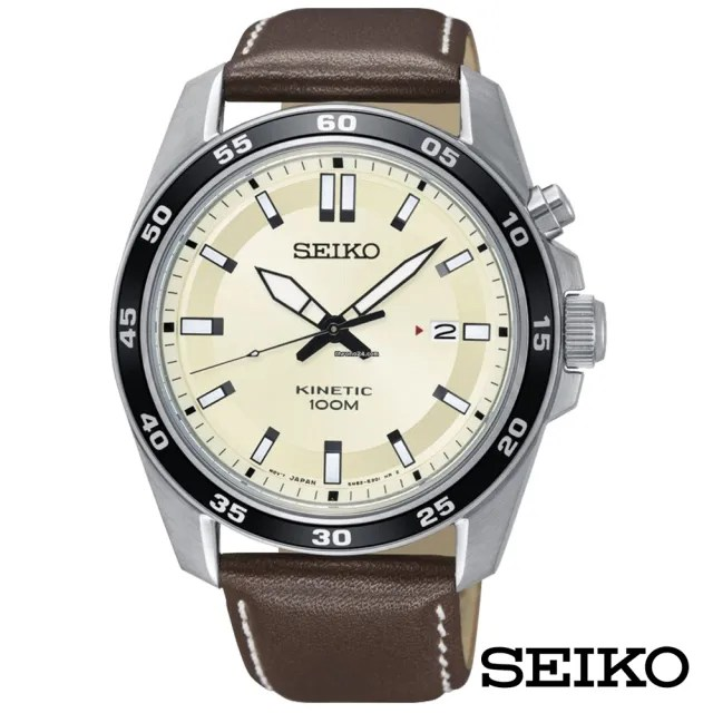 【SEIKO 精工】沙漠駱駝人動電能 鏤空錶背皮革個性男錶-黃x42mm(SKA787P1)