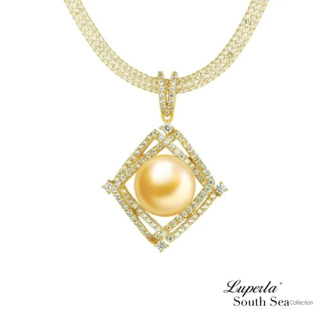 【大東山珠寶】璀璨之星 南洋珍珠純銀項鍊(南洋珍珠 金)