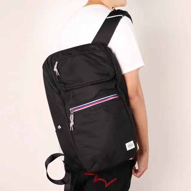 【AT美國旅行者】Barton防潑水拉鍊筆電後背包15.6 黑(GT2)