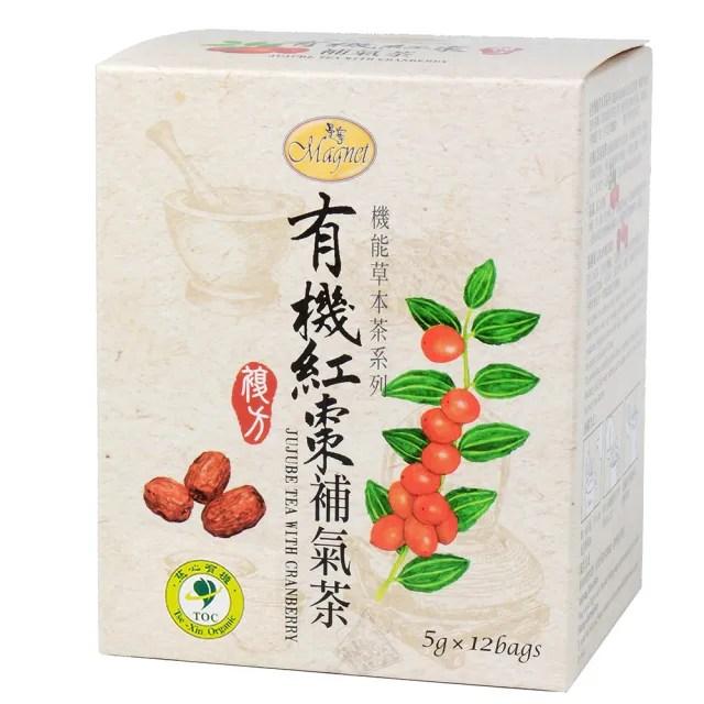 【曼寧】有機紅棗補氣茶包5gx12入(有機紅棗、紅棗)