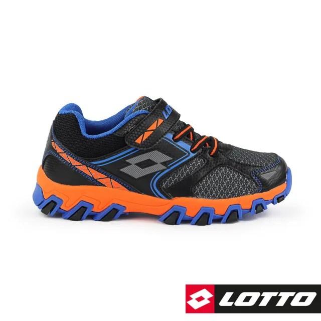 【LOTTO】運動鞋 兒童鞋  冒險王 防潑水越野跑鞋(黑/橘-LT8AKR7030)