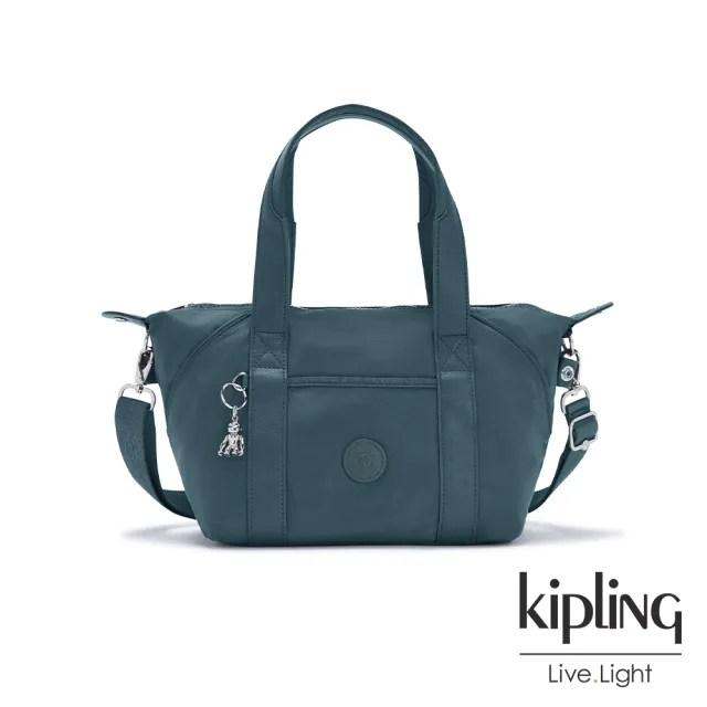 【KIPLING】山林湖茵綠手提側背包-ART MINI
