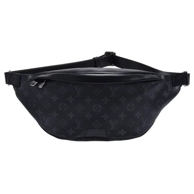 【Louis Vuitton 路易威登】M44336 Discovery Eclipse帆布牛皮飾邊斜背/腰包