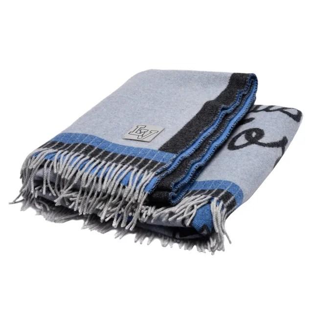 【Louis Vuitton 路易威登】M73749經典League系列針織緹花喀什米爾羊絨毛氈