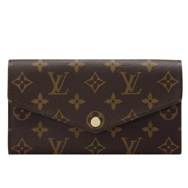 【Louis Vuitton 路易威登】M60531 經典Monogram帆布Sarah金釦長夾