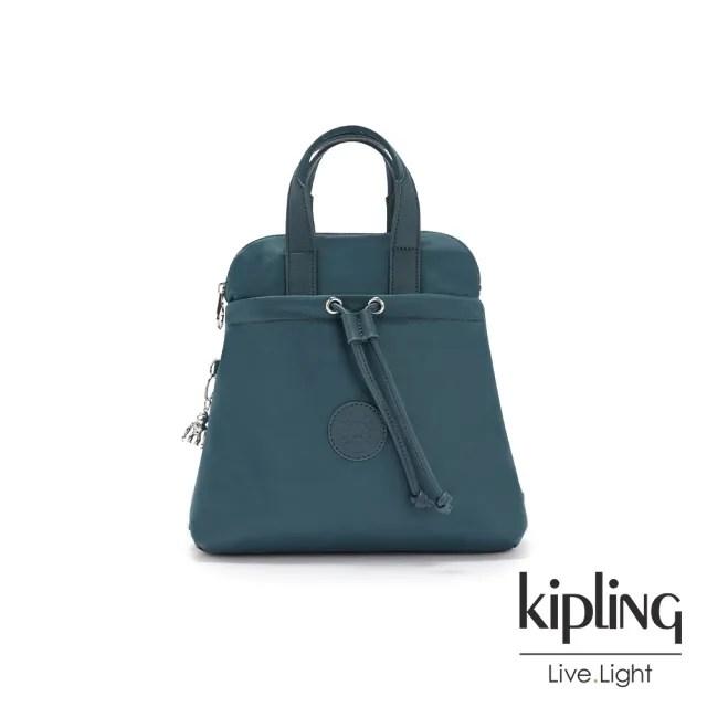 【KIPLING】山林湖茵綠造型三角後背包-GOYO MINI