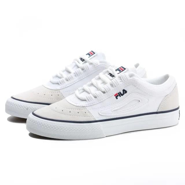 【FILA】CLASSIC BOARDER 米白 麂皮 深藍 滑板鞋 休閒鞋 老爹鞋 情侶款 男女(4C331U113)