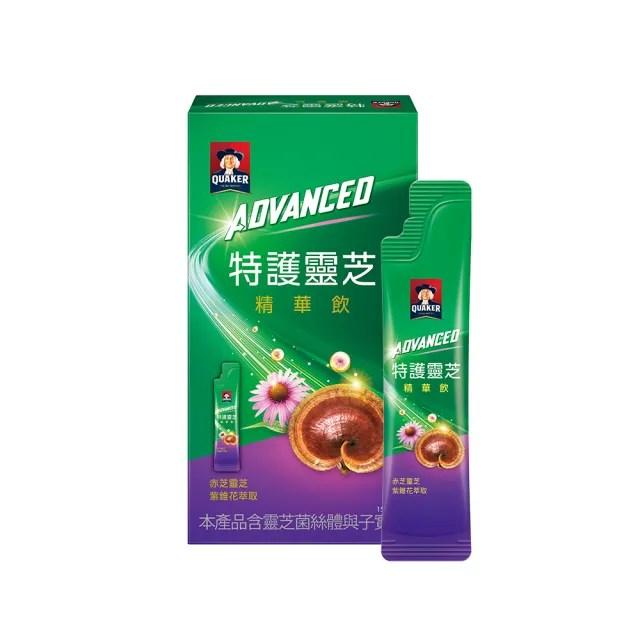 【QUAKER 桂格】Advanced特護靈芝精華飲盒裝15ml×21入(紫錐花+靈芝 迎戰有感風險)