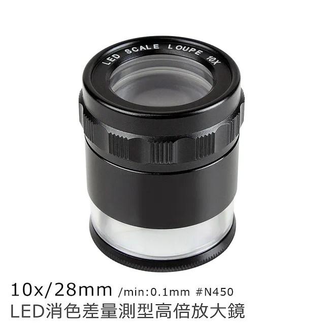10x/28mm LED消色差量測型高倍放大鏡(N450)