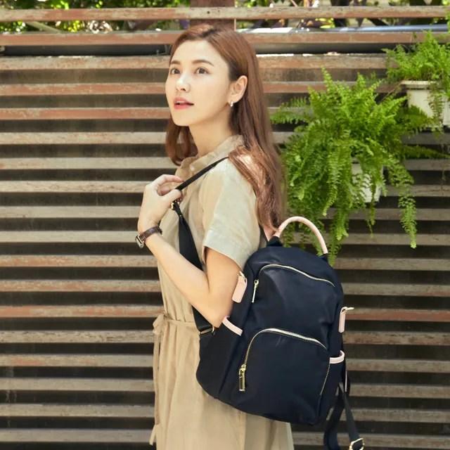 【FUNNNY】防盜後背包系列 Raina 黑x粉(後背包)