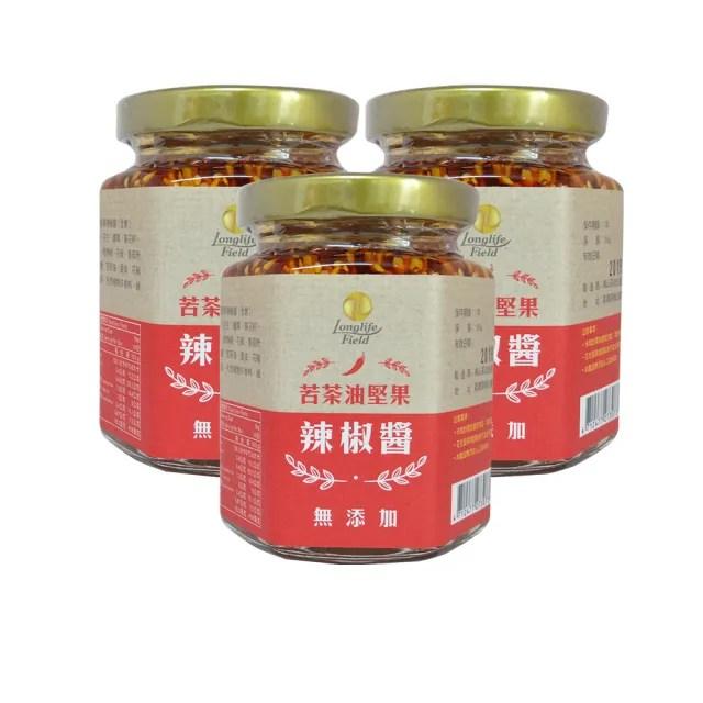 【梅山茶油合作社】苦茶油堅果辣椒醬3入組