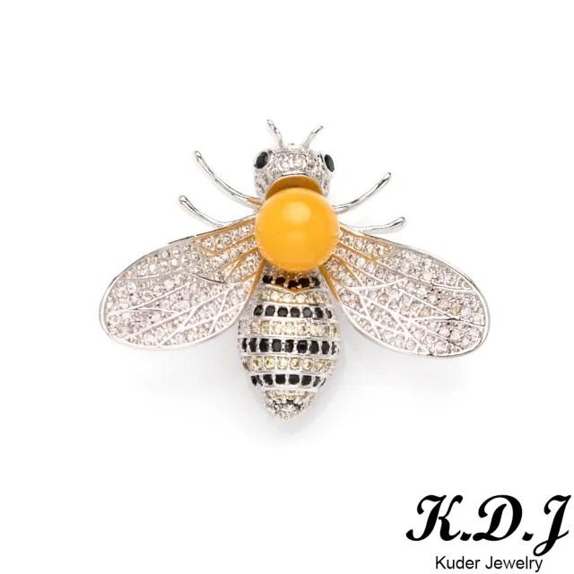 【K.D.J 圓融珠寶】天然琥珀蜜蠟蜜蜂胸針/墜飾(血泊/蜜蠟款)