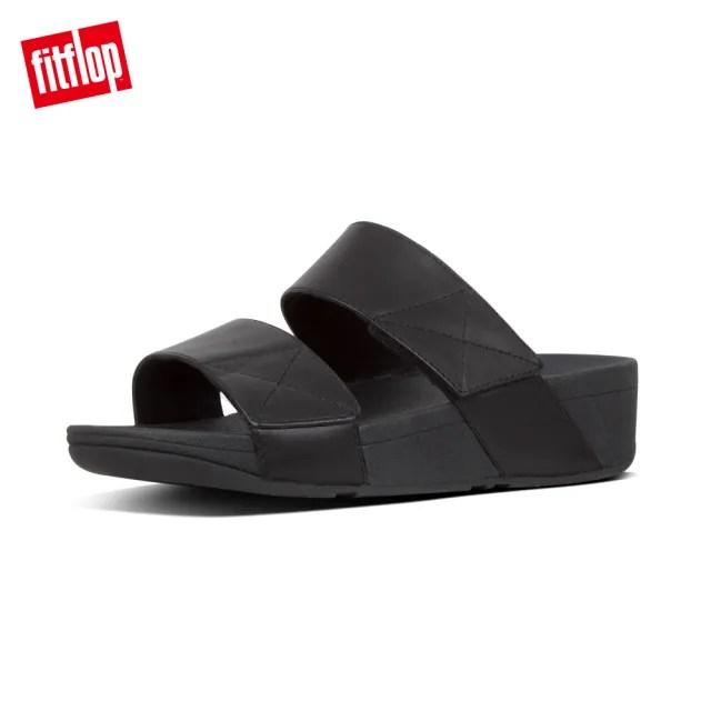【FitFlop】MINA SLIDES 可調式寬帶涼鞋-女(靚黑色)
