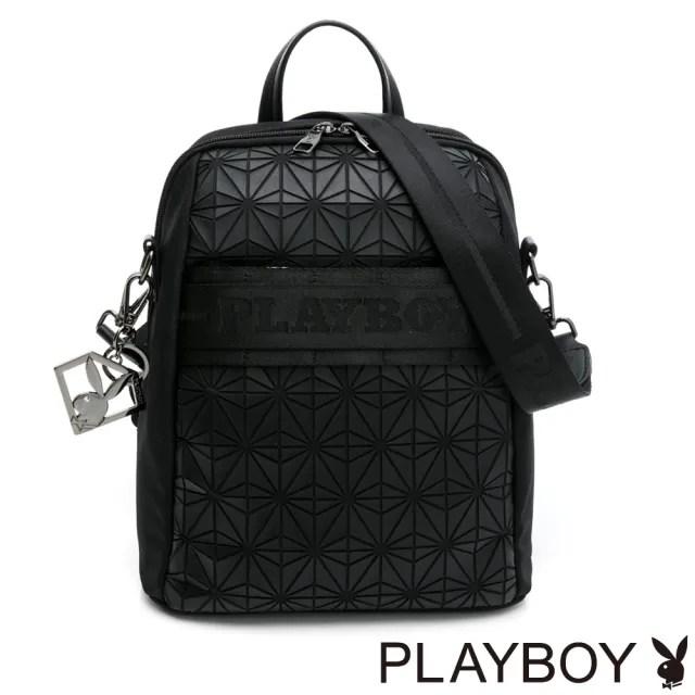 【PLAYBOY】三用後背包可肩背-女生版 Beyond系列(黑色)
