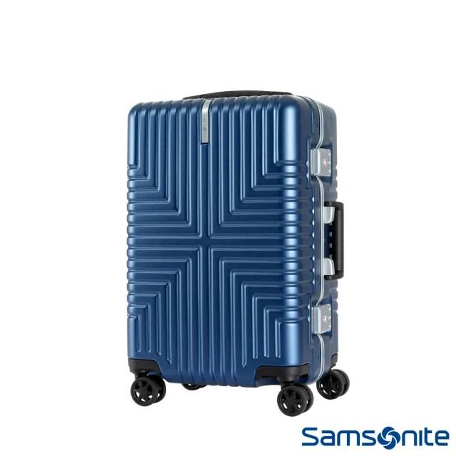 【Samsonite 新秀麗】20吋Intersect 高質感PC鋁框硬殼TSA行李箱 海軍藍(GV5)