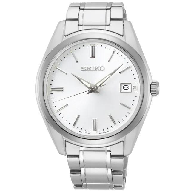 【SEIKO 精工】都會現代大三針時尚男錶-銀/39mm(SUR307P1/6N52-00A0S)