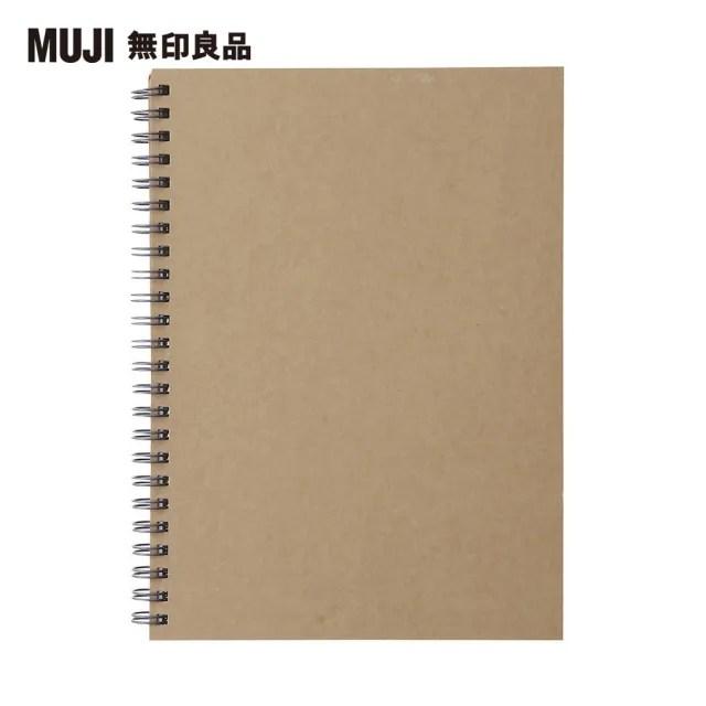 【MUJI 無印良品】雙環筆記本/空白/80張.A5.米