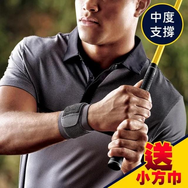 【3M】護多樂/可調式護腕 46378 黑色/運動護具(2入《送 攜帶型小方巾》)
