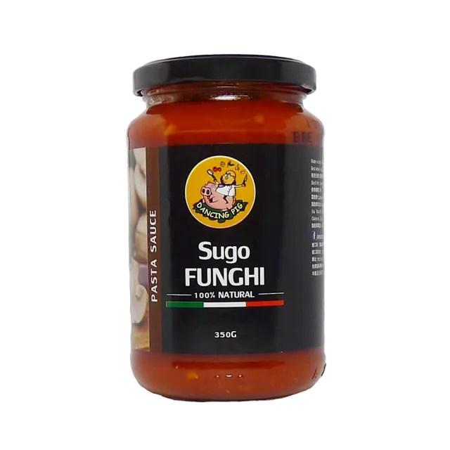 【豬跳舞】番茄磨菇麵醬 義大利麵醬  350g(義式紅醬/義式番茄醬/蘑菇醬)