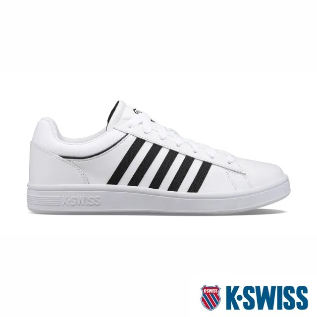 【K-SWISS】時尚運動鞋 Court Winston-男-白/黑(06154-919)