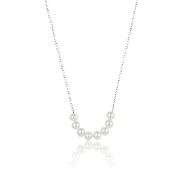 【大東山珠寶】掌上明珠系列 心手相印 925銀 珍珠項鍊 活扣式(時尚珍珠)