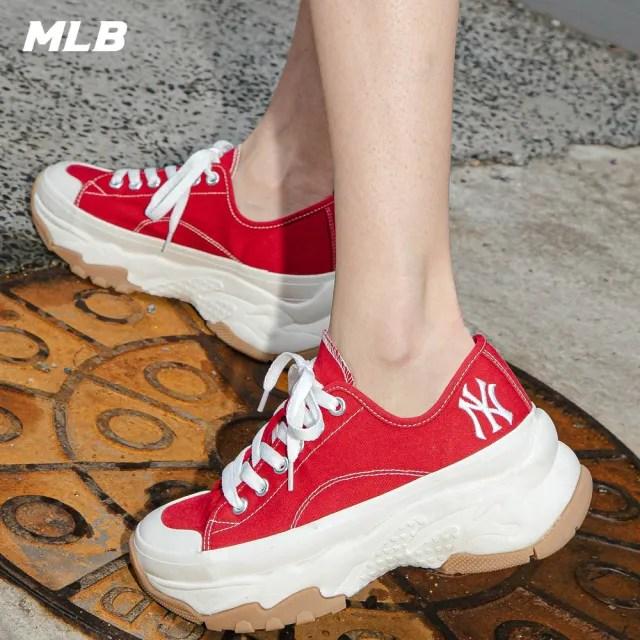 【MLB】低筒帆布老爹鞋 Chunky High 紐約洋基隊(32SHU2111-50R)