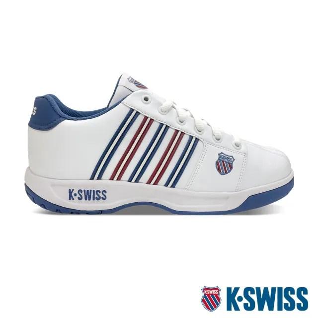 【K-SWISS】老爹鞋 Eadall-男-白/藍/紅(01353-175)