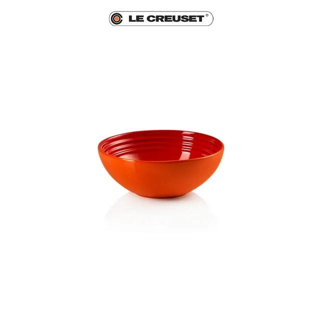 【Le Creuset】瓷器早餐穀片碗16cm(火焰橘)