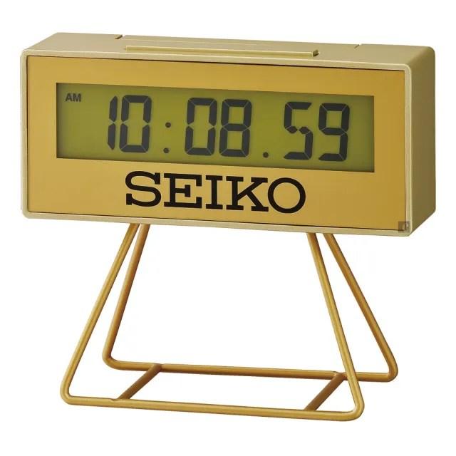 【SEIKO 精工】城市路跑電子桌鐘(QHL087G)