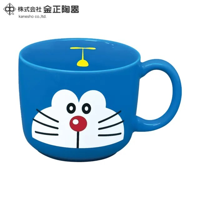 【Doraemon 哆啦A夢】日本金正陶器 哆啦A夢陶瓷馬克杯 250ml(日本製 日本原裝進口瓷器)