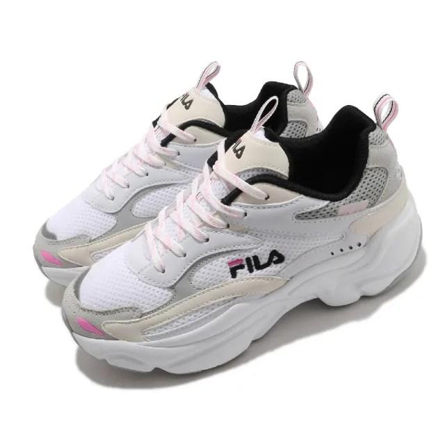 【FILA】休閒鞋 J313V 厚底 老爹鞋 女鞋 斐樂 1911 修飾腿型 網布 穿搭推薦 白 粉(5J313V143)