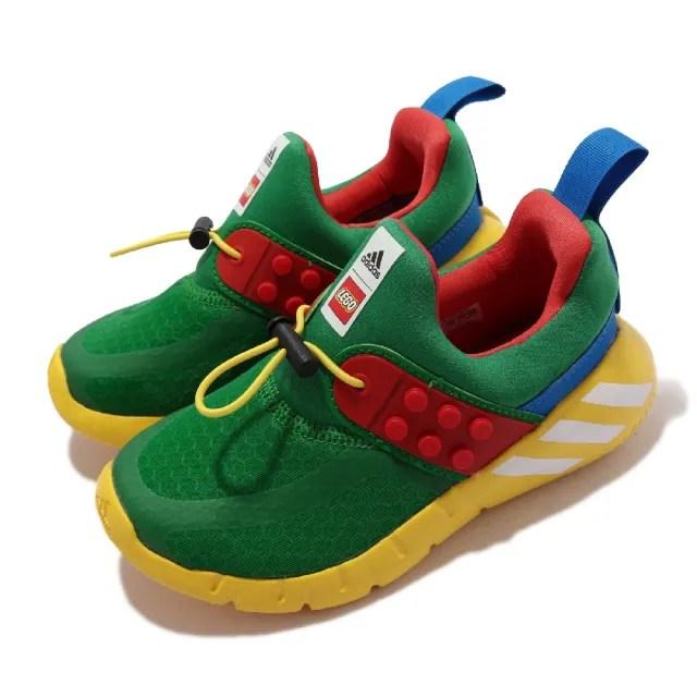 【adidas 愛迪達】慢跑鞋 Rapida Zen LEGO 運動 童鞋 愛迪達 樂高 聯名 襪套 避震 中童 彩(H05282)