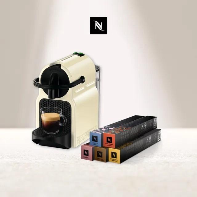 【Nespresso】膠囊咖啡機 Inissia(訂製咖啡時光50顆組)