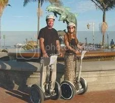 dolphin fountain and segways