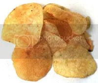 potato chips or crisps, depending