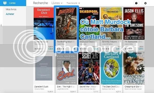 Résultats de la recherche dans le Play Store