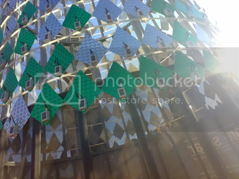 Detalle de las placas solares de cerca