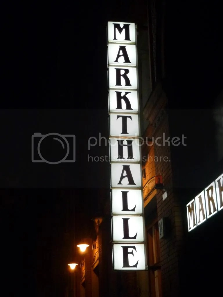 Markthalle sign