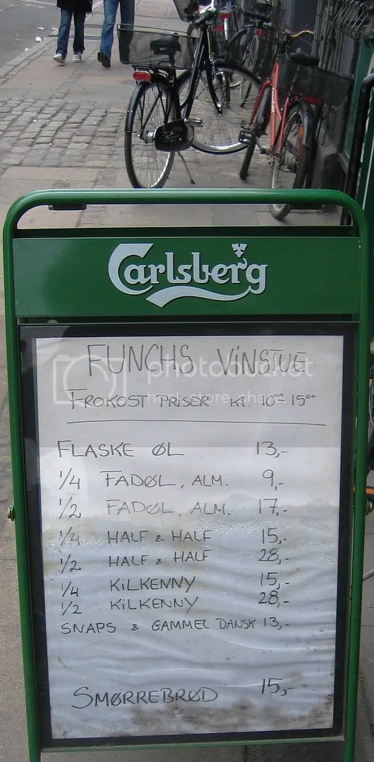 Danish lunch menu