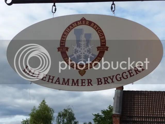 Lillehammer Bryggeri sign