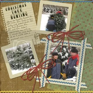 Hunting Christmas Trees Scrapbook Page