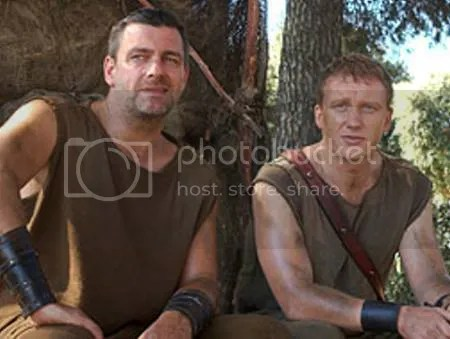Titus Pullo and Lucius Vorenus: quintessential BAMFs.