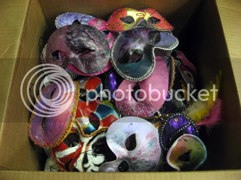 leftover Venetian Masks