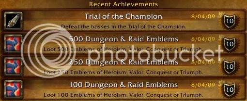 Achievements Recentes